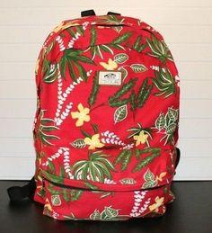 Vans Off The Wall Hawaiian Floral #Tropical Red, Green, Yellow Backpack Knapsack #VANS #Roadtrip #TheSmartShoppe