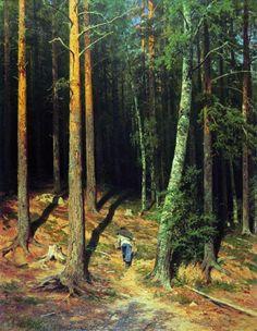 Pine forest, 1878 by Ivan Shishkin. Realism. landscape