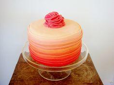 orange ombre weddings | Orange Ombre Cake by Lydia Bakes