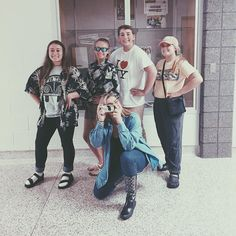 Staff members dressed up for tacky tourist day !