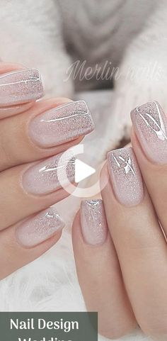 Nail Design Metalic For Wedding nails are an art expression to many brides nowad… - Harmony Blush Pink Nails, Pink Nail Colors, Cute Pink Nails, Pink Nail Art, Pretty Nails, Classy Nail Designs, Pink Nail Designs, Beauty Nail, Bride Nails