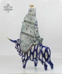 Guardian of the Temple of the Golden Tree, ceramic sculpture, 77 x 53 x 33 cm.