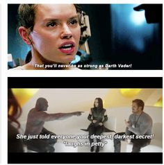 """""""That you'll never be as strong as Darth Vader!"""" """"She just told everyone your deepest darkest secret! *laughs in petty*"""