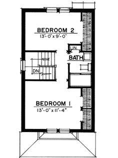 Petite Cottage - 43006PF | Cottage, Tudor, Narrow Lot, 2nd Floor Master Suite, PDF | Architectural Designs