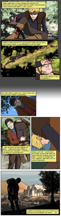 """amphigoury -   I love how this one turned out. I managed achieve the goal of doing a comic format, but keep good quality. Success! The 'story' comes from an old TV show called """"Due South"""" - episode 3 'Manhunt'."""