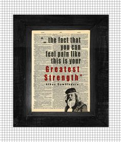 Dumbledore Greatest Strength Quote Harry Potter by AvantPrint, $8.00