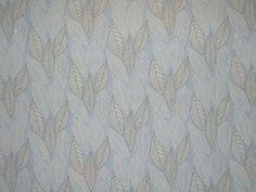 Ice Blue White and Black Leaf Print Pure Silk Crinkle Chiffon Fabric--One Yard. $19.88, via Etsy.