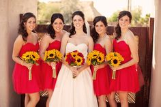 Hadn't thought about it...but I kinda like it. red and sunflower themed wedding