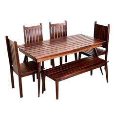 Dining Table Online India: Choose & Select from the Huge Range of Dining Table Set from Here Dining Table Set Designs, Buy Dining Table, Dining Table Online, Walnut Dining Table, Dining Bench, Outdoor Furniture Sets, Outdoor Decor, Home Decor Items, Solid Wood