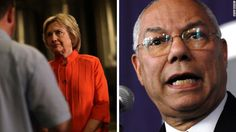 "Powell: Clinton camp trying to 'pin it on me'  Washington (CNN)Leaked emails from former Secretary of State Colin Powell show him strongly criticizing Donald Trump, labeling him a ""national disgrace and an international pariah."""