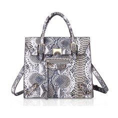 37.81$  Buy here - http://alifv8.shopchina.info/go.php?t=32807300205 - Premium Snake Skin Tote Bag Luxury Handbags Women Bags Designer Tassel Shiny Shopper Bag PU Leather Female bolso Gray Brown Pink  #buyonlinewebsite