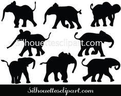 Baby Elephant Vector Graphics