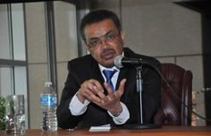 Dr. Tedros answers questions at a meeting with members of the Ethiopian Diaspora in Washington DC