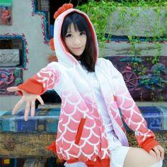 Hoozuki no Reitetsu hoodies cosplay red goldfish costumes for girls