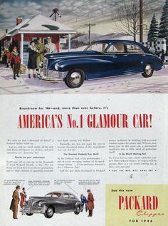 1945 Packard Ad, Saturday Evening Post Dec 15