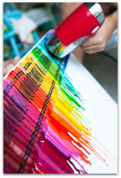 Number Five on Peg Fitzpatrick's 12 Most Popular Pins is Rainbow crayon art; 65,184 repins, 11,175 likes & 452 comments (compiled June, 2013). Please click the link below to read her great article.