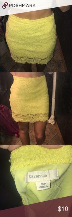 Size Small Yellow Lace Skirt Size Small Yellow Lace Skirt Skirts Mini