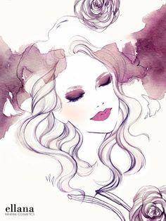 Soleil Ignacio Fashion & Beauty Illustration | For Ellana Minerals Makeup