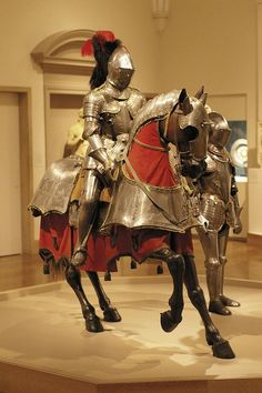 Armour for horse and man, and field armour Armour for horse and man: Italy (probably Milan), ~1565. Field Armour: Italy, ~1575