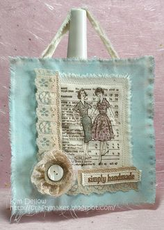 Stitching home decor. From www.kimdellow.co.uk