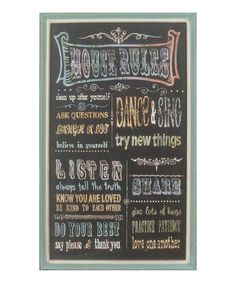 Love this 'House Rules' Wood Sign by VIP International on #zulily! #zulilyfinds