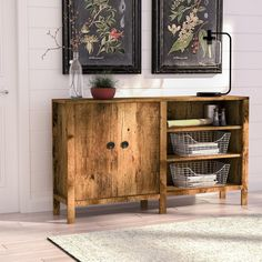 Clear clutter in your home with this must-have console table, crafted from manufactured wood and showcasing an understated silhouette. Its wood-grain details pair perfectly with plank-inspired decor while its oak finish matches well with neutral wallpaper for a contrasting look. Lean into this clean-lined piece's modern farmhouse inspiration by adding it to an entryway comprised of arched window-inspired mirrors and vintaged framed botanical prints for a cohesive display. Top this piece off…