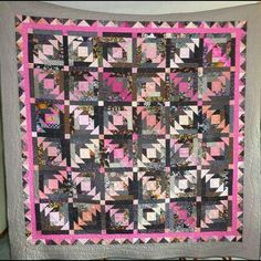 Pineapple quilt, free pattern, great colors