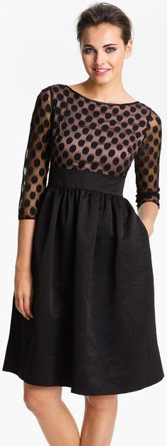 eliza-j-mesh-bodice-fit-and-flare-dress.jpg 344×916 pixels