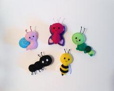 Miniature Bug Felt Plushies Choose One by heartfeltbymsmegas, $8.00