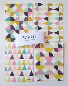 NEW COLORS Cards Geometric and colors print par mademoiselleyo