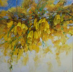 Spring just around the corner! Some Kowhai trees already blossoming! Finishing this painting for upcoming exhibition at StBede's College of October in Christchurch. Hope to see you there. Watercolor Flowers, All Art, Impressionism, Original Artwork, Gallery, Artist, Painting, Florals, October