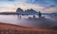 Into the Sweet Morning Fog. - The day begins to breathe. South Tyrol.