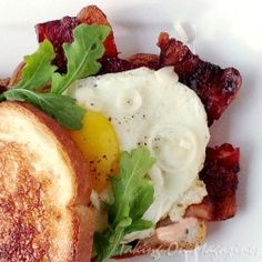 Bacon and Egg Sandwiches on whole wheat toast love them. Healthy, quick and easy.