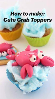 Wilton Cake Decorating, Cookie Decorating, Easy Cupcake Decorating, Cupcake Flavors, Cupcake Recipes, Fondant Cupcakes, Cupcake Cakes, Cupcake Cake Designs, Cupcake Ideas