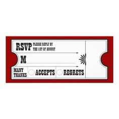 DealsTheatre Ticket RSVP Card Custom InvitationWe provide you all shopping site and all informations in our go to store link. You will see low prices on