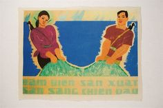 High quality reproduction of Vietnam War era Propaganda poster. Collectible and affordable art from Hanoi they are pieces to decorate a unique office wall of art. #art #RicePaper #propaganda #vietnam