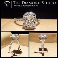 Raised diamond on halo