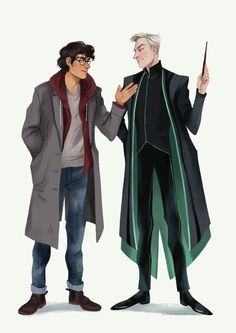 dis4daria: finished my aurors Harry and Draco :)... - HissHiss GodDamn