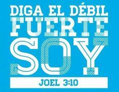 Diga el debil, fuerte soy...  #vida #amor #frases #biblia