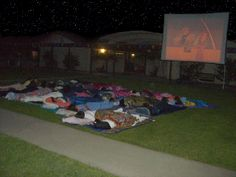 How To:  Create an Outdoor Theater (on the Cheap). DVD player, screen, projector, & sound system! :)