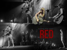 Taylor Swift RED Background HD Wallpaper