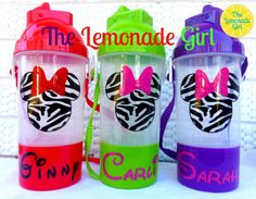 Personalized Sippy Cup with Snack Holder, Minnie Party Favor, Zebra Minnie by TheLemonadeGirl, $40.00