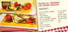 Tutti a tavola! Arrivano le #bruschette di #polenta con crema al #parmigiano e #verdure grigliate!