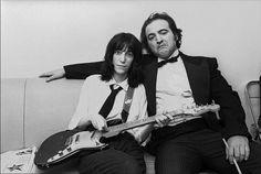 Patti Smith and John Belushi backstage Saturday Night Live