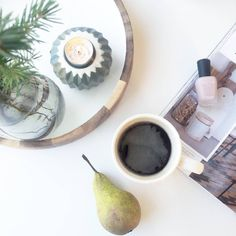 Morning routine ♡ peace&quiet  #morningcoffee #kaffe #coffee #coffeecup #coffeeoclock #morgenkaffe #cafecreme #earlymorning # #bloomingville_interiors #everydayzoya #zoyanailpolish #pinewood #candlelight #magazine #contemporary #norskehjem #interiorinspo #interior4all #green #nordic #nordisk #nordichomes #nordicinterior #details #detaljer #scandihome #kitchen #interiør #interior #norway
