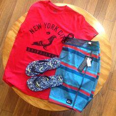 Nuestra combinación para este domingo: #Boardshorts + #Sandalias + #Camiseta ¡Todo cargado al mejor estilo #Quik! Quiksilver Colombia