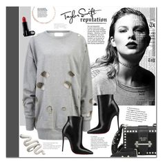 """Taylor Swift - Reputation"" by mery90 ❤ liked on Polyvore featuring Prada, Christian Louboutin, Luv Aj, GetTheLook and taylorswift"