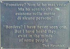 Thor Heyerdahl. Borders?