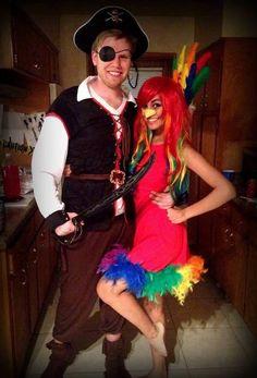 DIY Parrot Halloween Costume Idea