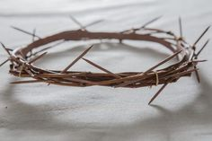 How to Make a Crown of Thorns for an Easter Play (or a blasphemous burlesque act) Make A Crown, Diy Crown, Altar Decorations, Decoration Table, Flower Decorations, Jesus Costume, Jesus Crown, Easter Play, Church Crafts